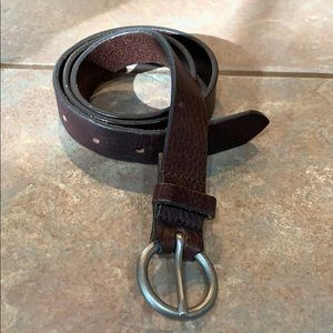 💐5/25 Simple brown 1 in narrow 100% leather belt